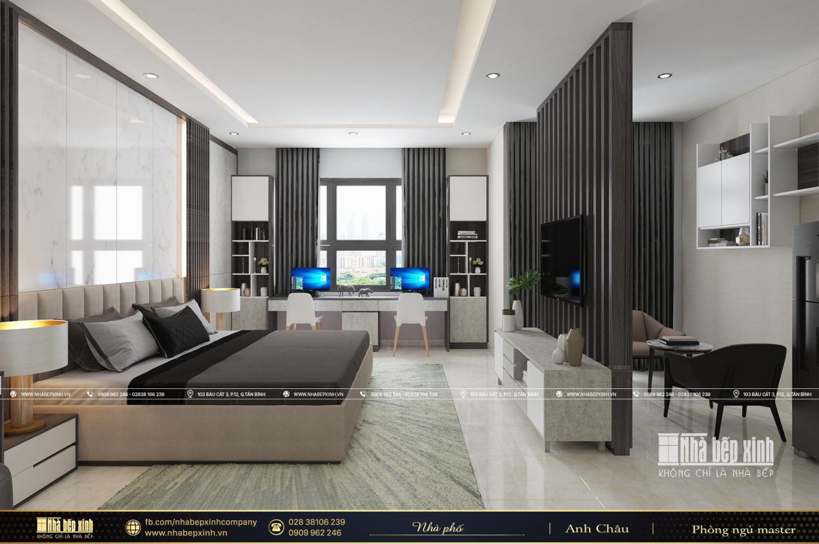 Thiết kế phòng ngủ Master hiện đại tại Bình Tân