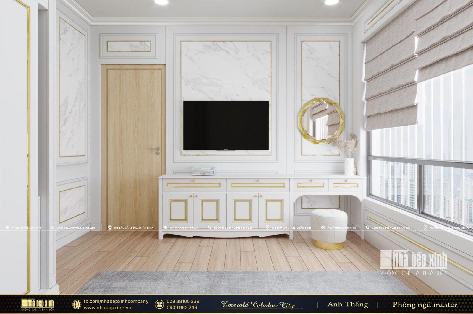 Thiết kế nội thất chung cư đẹp, cao cấp căn Emerald Celadon City 106m2