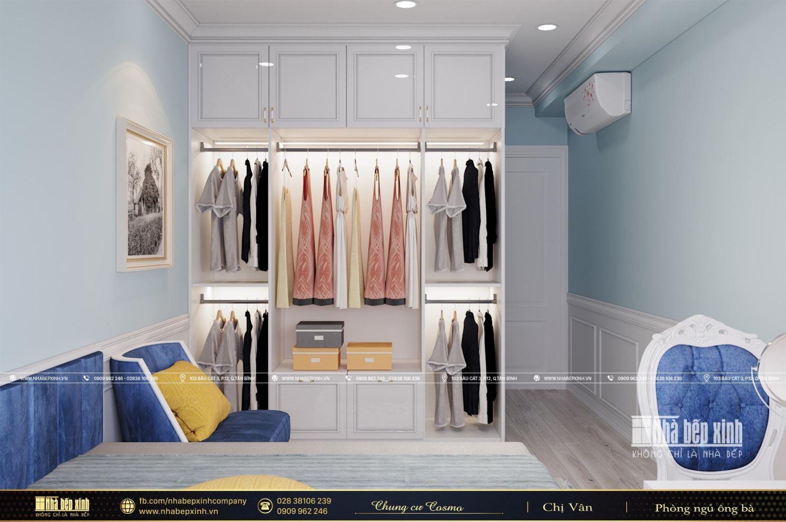 Thiết kế phòng ngủ người lớn đẹp căn Cosmo City Quận 7 129m2