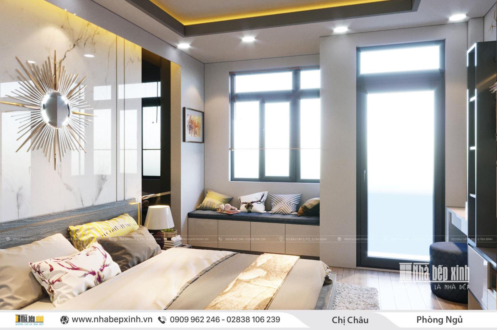 Sáng tạo bất ngờ trong không gian thiết kế nội thất nhà chị Châu