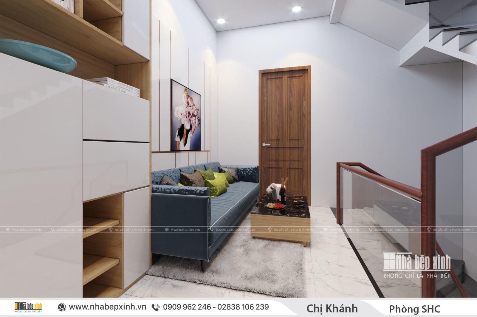 Thiết kế phòng sinh hoạt chung cho nhà phố hiện đại