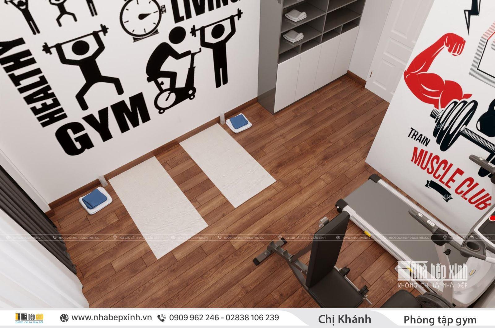 Thiết kế phòng tập gim tại nhà