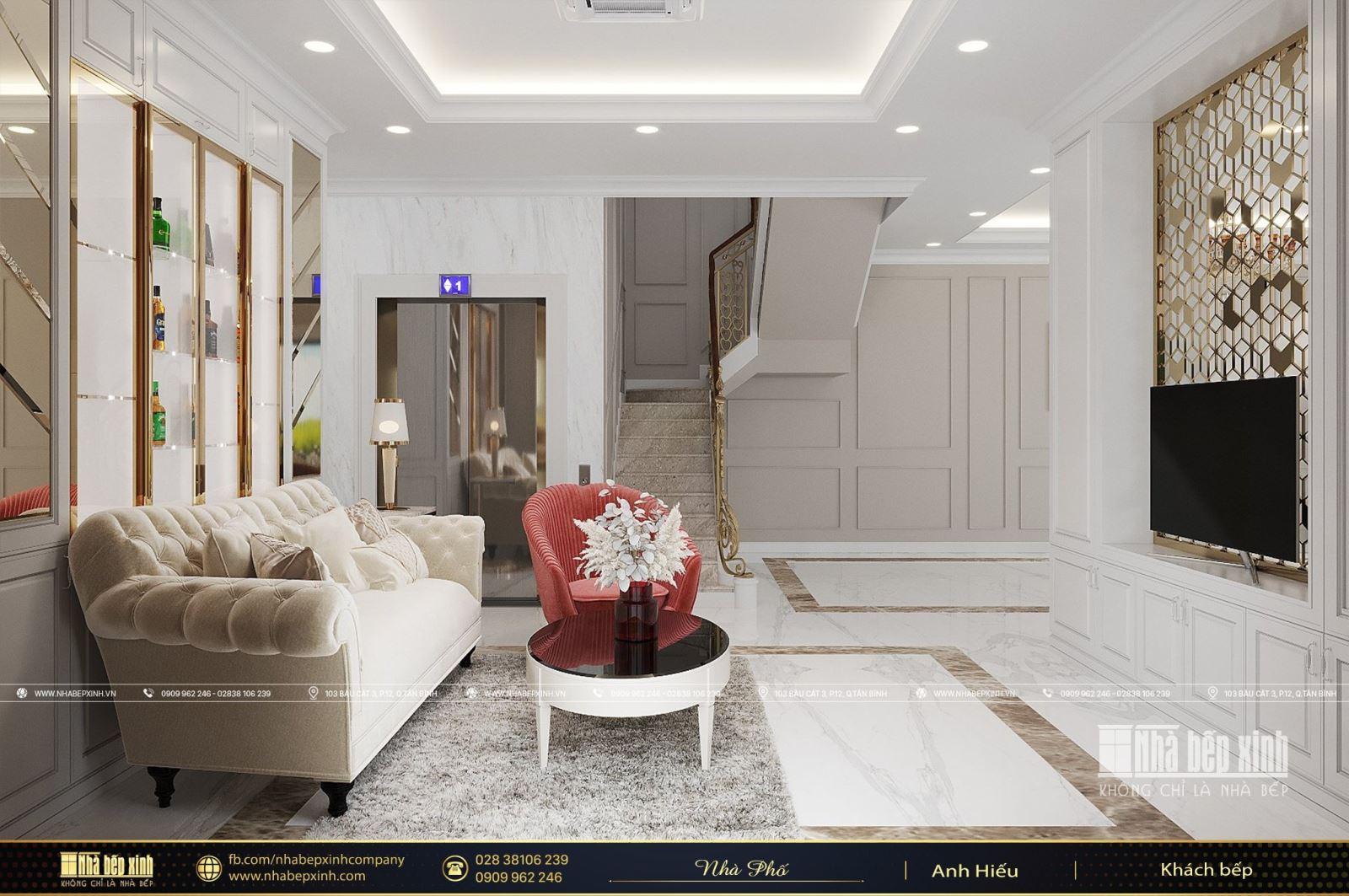 Thiết kế & Thi công nội thất Vincom Shophouse Mỹ Tho - Tiền Giang