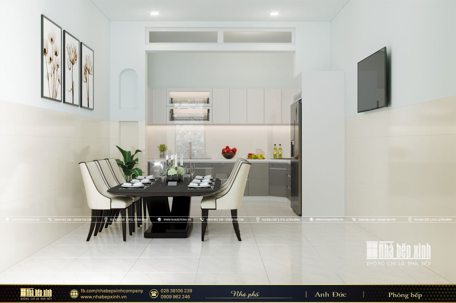 Thiết kế tủ bếp hiện đại tại Quận Tân Phú