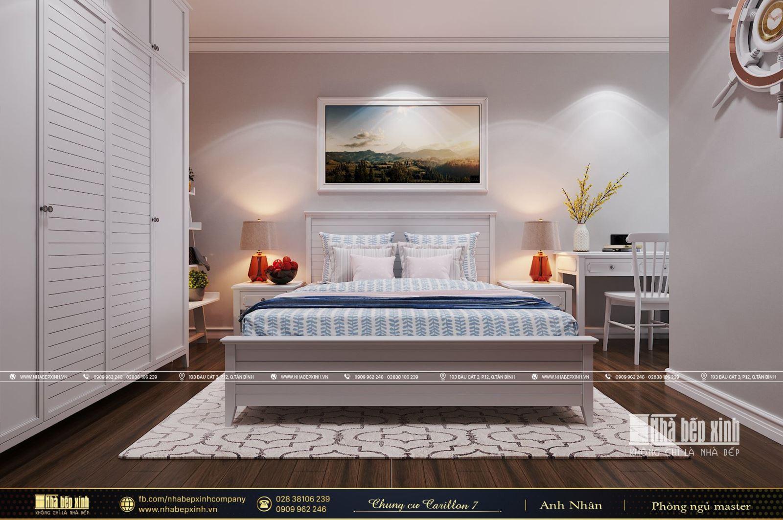 Tổng hợp các mẫu thiết kế nội thất căn hộ Carillon 7 64m2 - 2 phòng ngủ