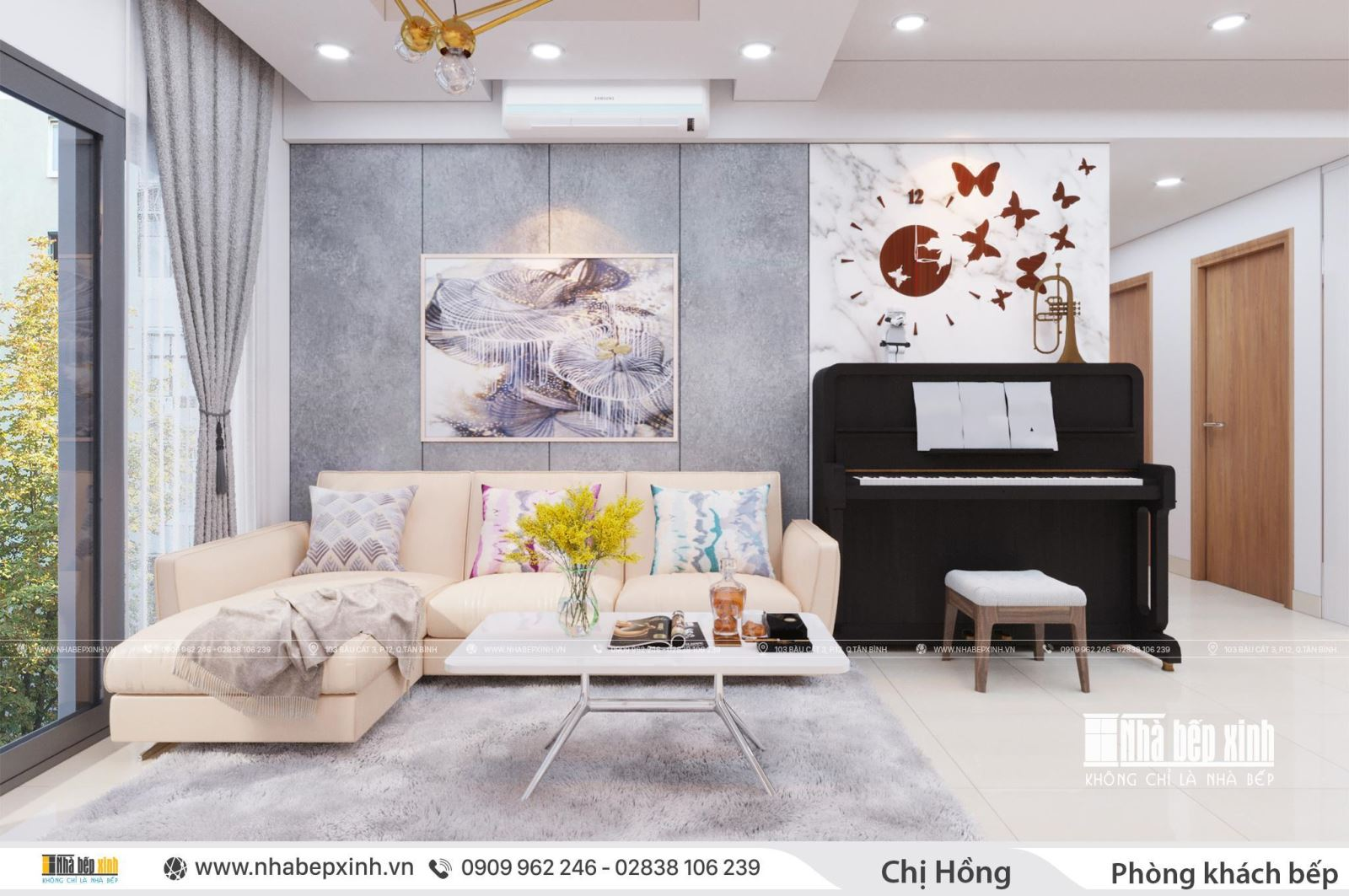 Thiết kế nội thất chung cư hiện đại căn 104m2 Emerald Celadon City