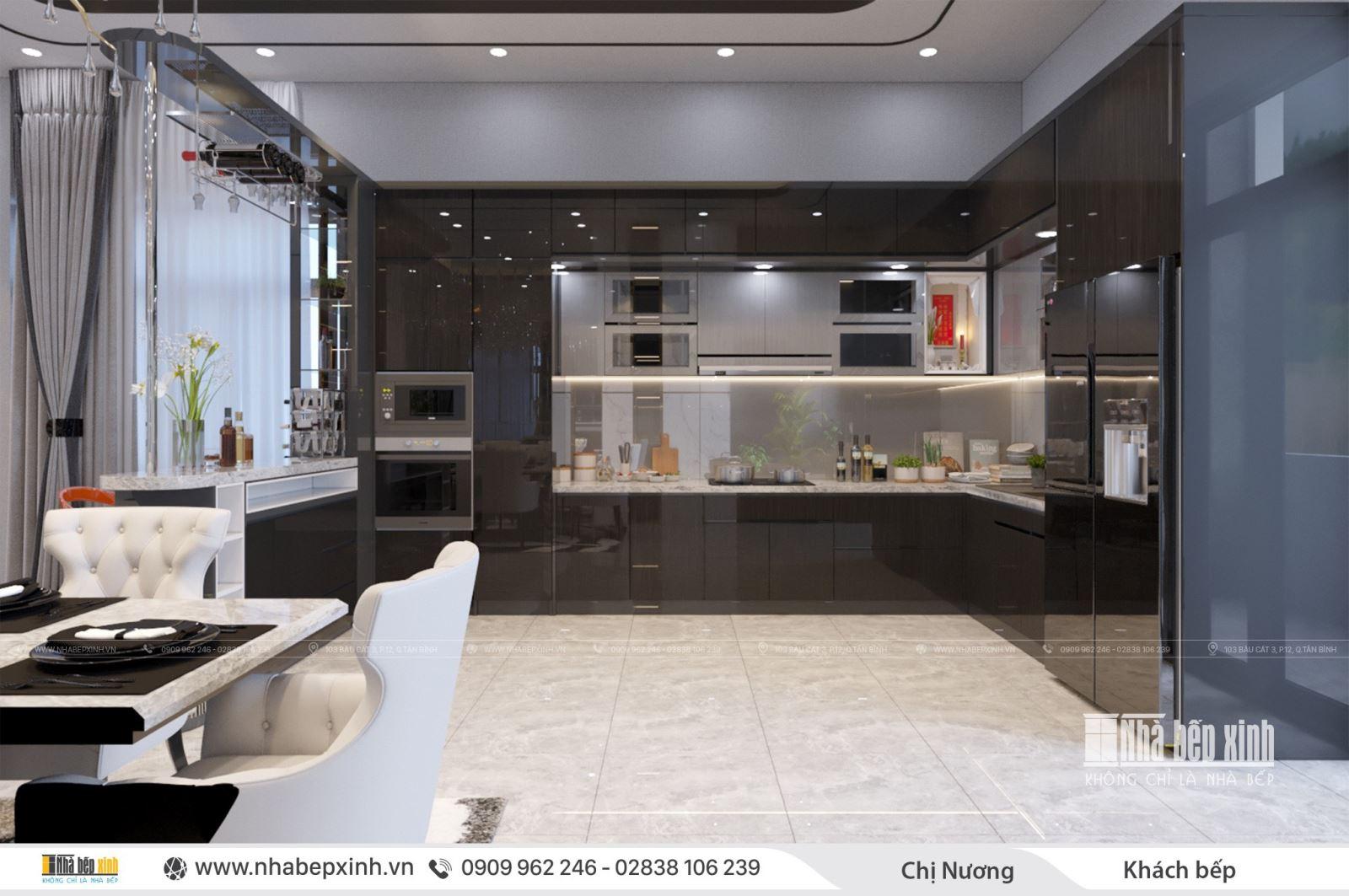 Thiết kế tủ bếp đẹp và sang trọng