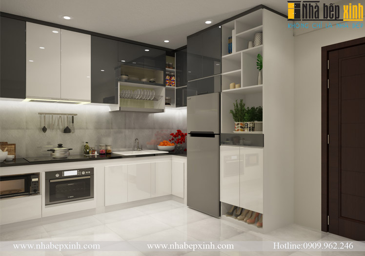 tủ bếp acrylic cs1