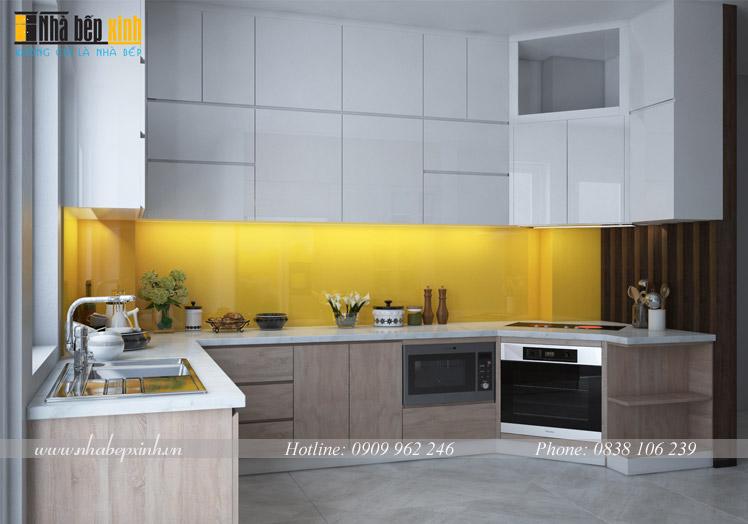 tủ bếp gỗ chữ u p8