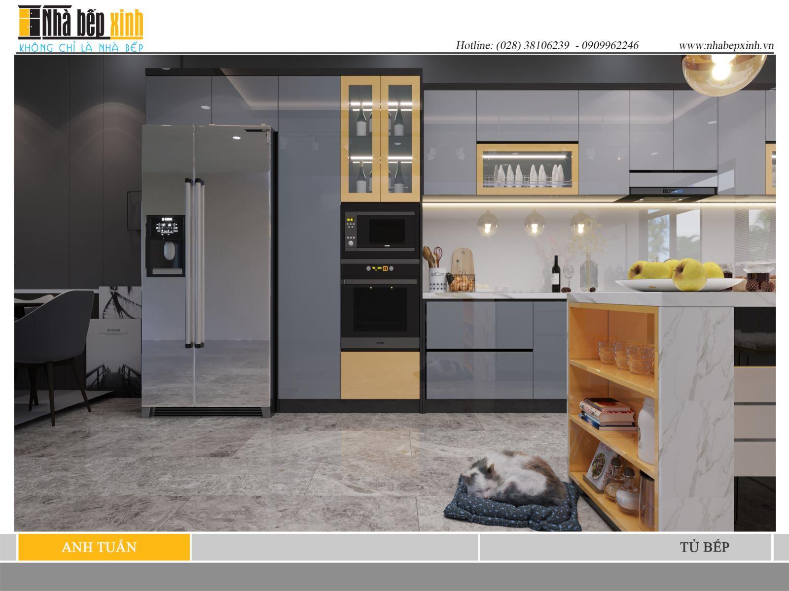 Mẫu tủ bếp đẹp và sang trọng cho căn bếp hiện đại