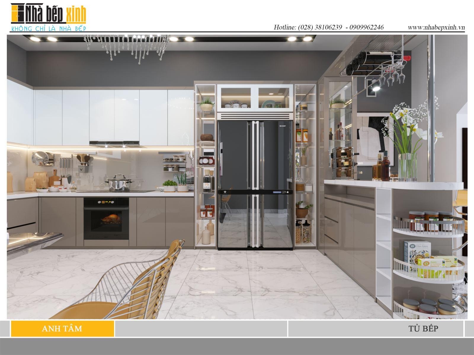 Hình ảnh tủ bếp đẹp cho căn bếp thêm sinh động và sang trọng