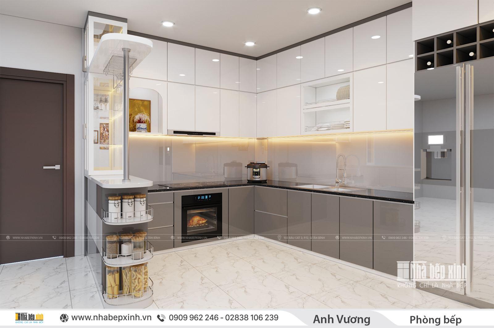 Tủ bếp hiện đại Acrylic